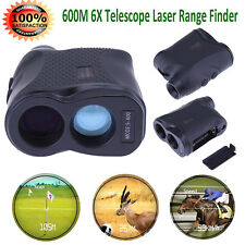Waterproof 600M 6X Telescope Laser Range Finder Golf Distance Height Speed Meter