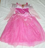 Girls Size 4 Or Size 7-8 Aurora Sleeping Beauty Costume Dress Disney Store
