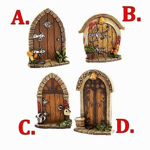 Details about FAUX STONE & WOOD FAIRY GARDEN DOORS CHOICE OF KINDS SPRITES  - GNOMES - ELVES
