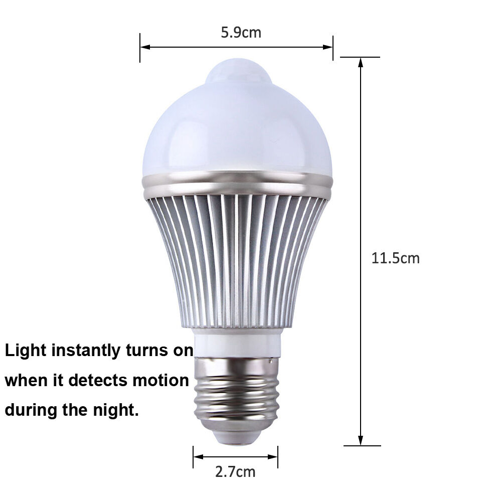 Dusk To Dawn Light Bulb Not Working: E27 7W LED Dusk To Dawn Auto Light Sensor Motion Sensor
