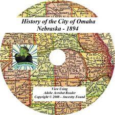 1894 History & Genealogy of the City Omaha Nebraska NE