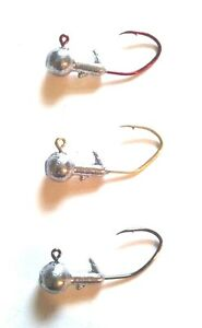 1//16 #4 Eagle Claw Red Sickle Collarless Jighead 100ct
