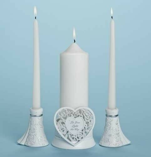 Unity Candle Holder Set avec bougies