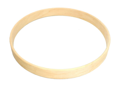 """Pair of New 14/"""" 5-Ply Unfinished Maple Bass Drum Hoops"""