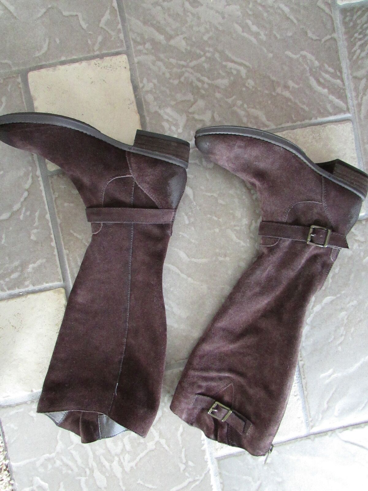 NEW SAM EDELMAN BROWN SUEDE TALL KNEE HIGH BOOTS Damenschuhe 6 RIDING BOOTS