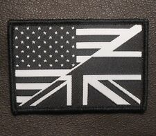 USA/UK AMERICAN/UNION FLAG UKSF SEAL SWAT OPS VELCRO® BRAND FASTENER PATCH
