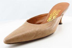 Salvatore-Ferragamo-Mules-Beige-Synthetic-Women-Shoes-Size-8-Medium-B-M
