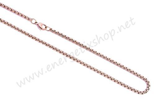 Atrapa sueños joyas señora collar para remolques 80 cm Rosé-Gold