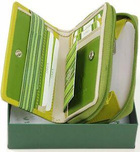 Ladies-soft-luxury-Italian-small-leather-green-purse
