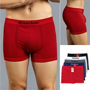 ff444dfda169 6 PACK Men's STRIPED Microfiber Seamless Boxer Briefs Shorts ...