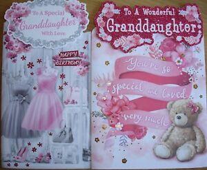 Granddaughter birthday card ~ various designs
