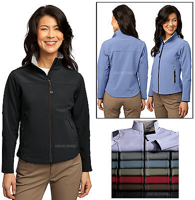 Core Authority Soft Shell Jacket BLACK Fleece Lined Womens S-4XL Ladies P.A