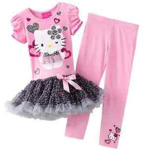 Hello-Kitty-set-vestito-leggings-bambina-manica-corta-mod-220002