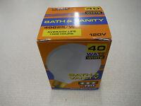 Feit 40g25/w Bath & Vanity Globe Light Bulbs White