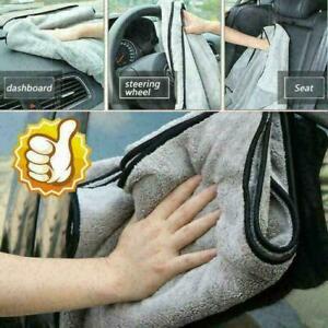 Autopflege-Poliertuch-Pluesch-Mikrofaser-Waschtuch-Trockentuch-Starke-dicke-U0W0