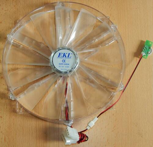 220mm 22cm Gehäuselüfter Silent Lüfter EKL EZPF-22030 220x220x30mm 12V 0,3A Fan