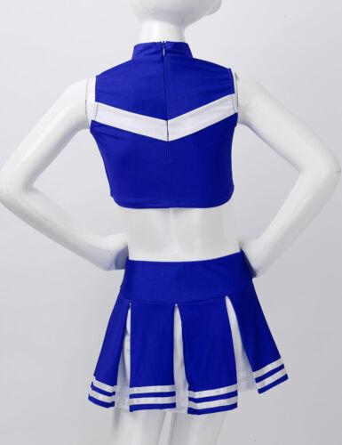 Child Girls Cheerleader Costume Stage Performance Uniform Cosplay Party Dress Up