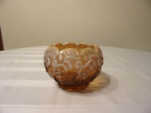 FENTON-ROSE-BOWL-CAMEO-OPALESCENT-LILY-OF-THE-VALLEY