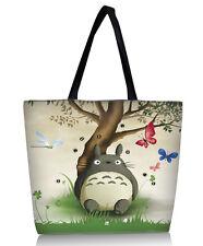 Totoro Patterned Shopping Tote Bag Shoulder Bag Handbag School Sport Beach Bag