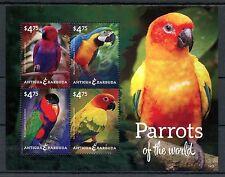 Antigua & Barbuda 2014 MNH Parrots of World 4v M/S I Birds Macaw Parakeet Stamps