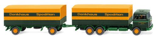 """/""""Sped NEU in OVP WIKING 045601-1:87 Denkhaus MB 2223 Pritschenhängerzug"""
