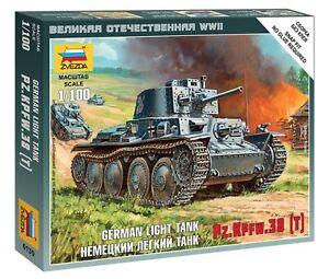 KPFW 38 T 6130 Zvezda 1:100 New! German Light Tank PZ