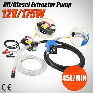 Electric Fuel Transfer Pump Diesel Kerosene Oil Commercial Auto Portable 12V DC
