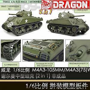 la mejor oferta de tienda online Dragon 75055 1 6 M4A3 Us Howitzer M4A3 M4A3 M4A3 (75) Scherman medio tanque montado Juguete  precios bajos