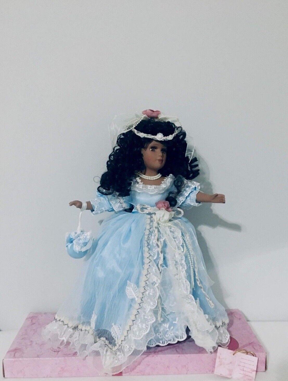 Colección de muñecas de porcelana afroamericano carmesí Josephina Josephina Josephina Colección  disfrutando de sus compras