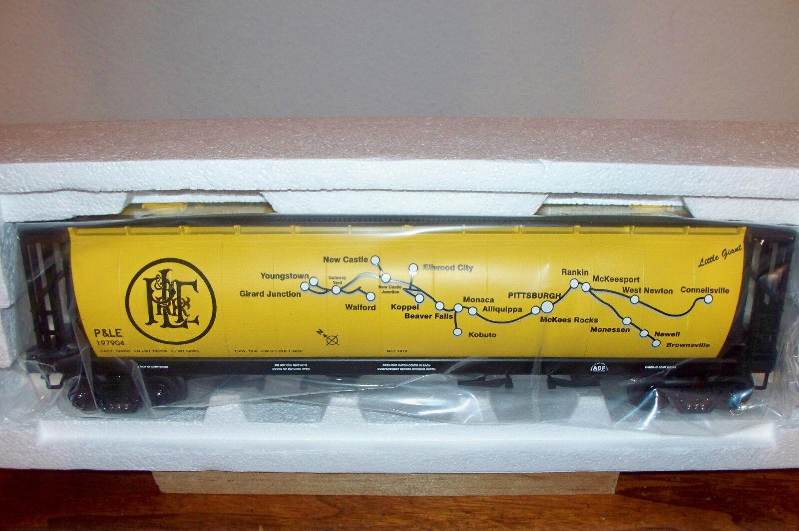 MTH TRAIN PITTSBURGH & LAKE ERIE RAILROAD 4-BAY CYLINDRICAL HOPPER CAR