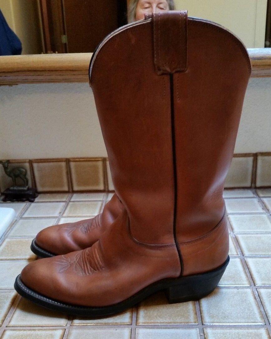 Olathe Hombre Cuero Marrón Tostado botas De Vaquero altura 11  excelente condición usada E