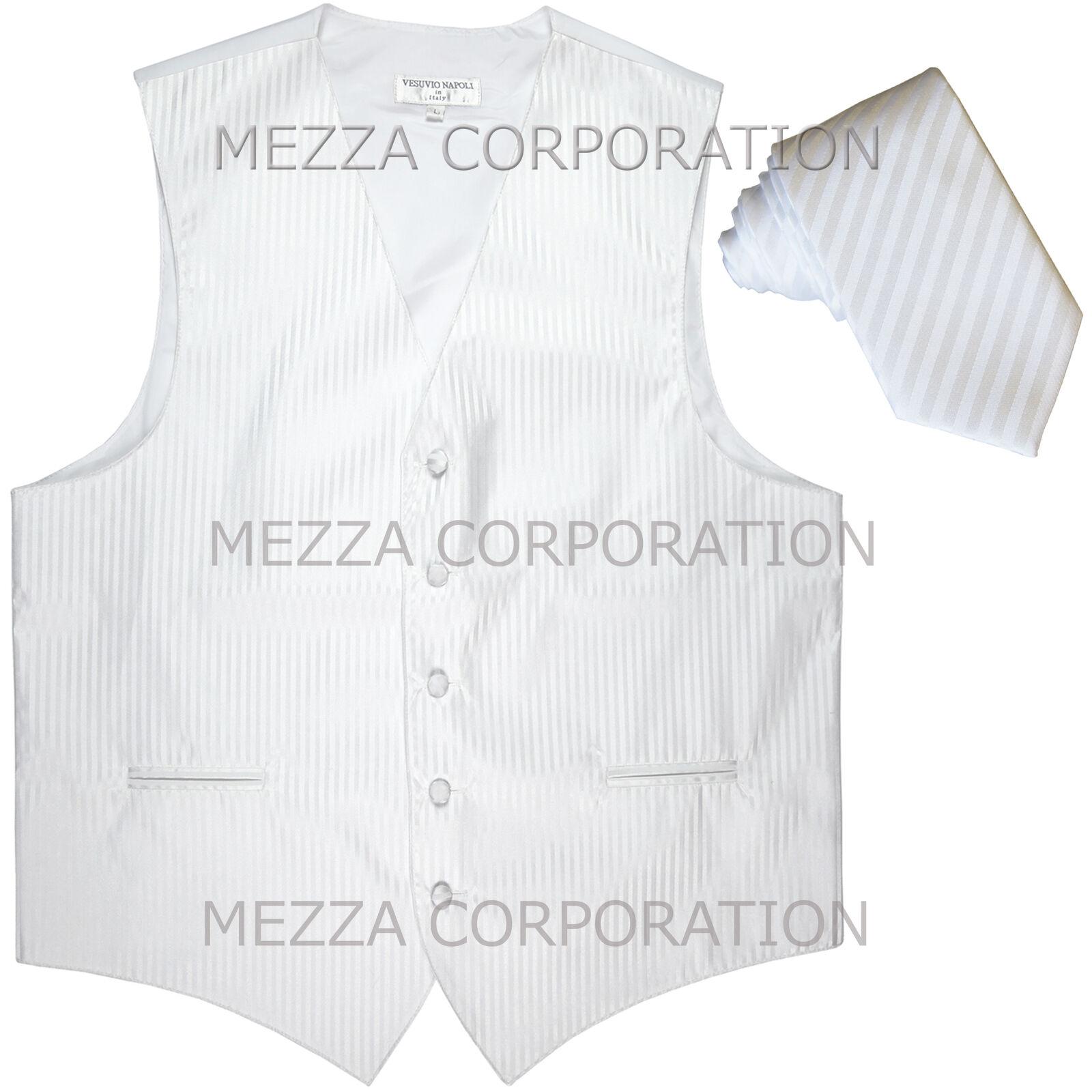 New Men's Tuxedo Vest Vertical Stripes 2.5