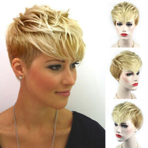 Ladies-Short-Full-Wig-Blonde-Heat-Resistant-Synthetic-Hair-Cosplay-Party-Costume