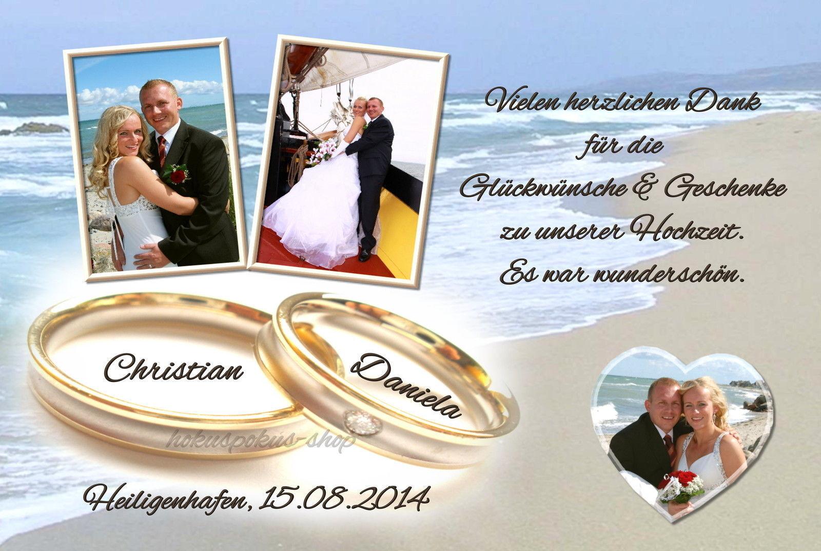 50 Danksagungskarten Hochzeit Danksagungen Fotokarte Hochzeitskarte Danke Foto | Gute Qualität  | Am praktischsten