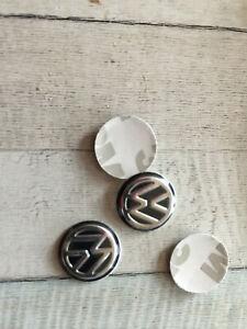 2x Schlüsselemblem  VW -Logo  + 3D Aufkleber + Kunststoffbasis + 14mm +NEU+