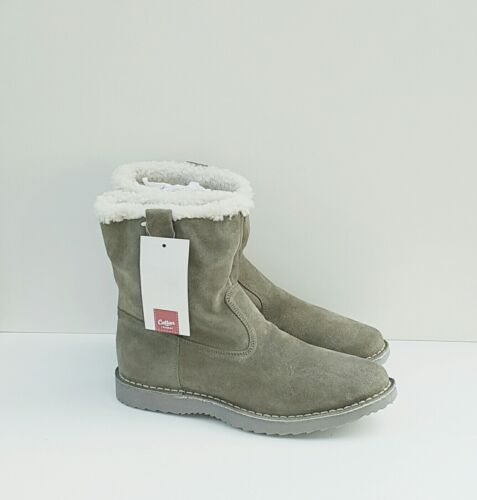 Cotton Trader Fur Lined Sherpa Boots Fern Green Size 11 New *