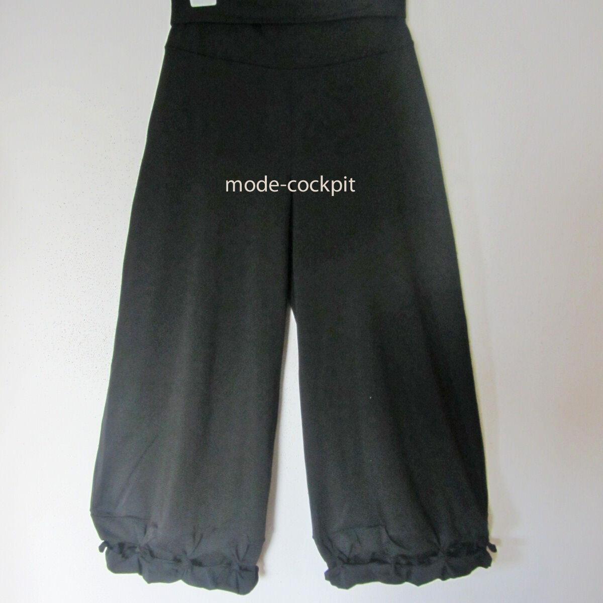 BORIS INDUSTRIES softe weite Hose Lagenlook Knoten Doubleface black 48-50 (3)
