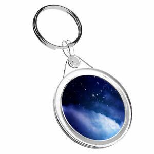 1 X Bleu Ciel Nocturne Space Star-porte-clés Ir02 Papa Anniversaire Enfants Amusant Cadeau #8745 Doux Et LéGer