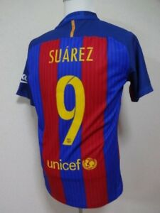9d8c2367a FC Barcelona  9 Suarez 100% Authentic PI Jersey Shirt L 2016-17 Home ...