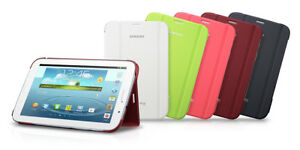 ORIGINAL SAMSUNG GALAXY NOTE 8.0 TABLET BOOK COVER STAND PINK WHITE or GREY NEW