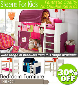 7b9f237dd1c Image is loading Steens-Highsleeper-Midsleeper-Bunk-Beds -Wardrobes-Bookcase-Desk-