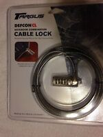 TARGUS DEFCON CL NOTEBOOK SECURITY COMBO CABLE LOCK LAPTOP ANTI-THEFT