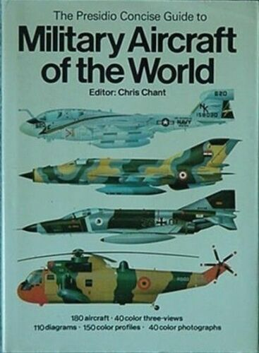 MILITARY AIRCRAFT OF THE WORLD, 1981 BOOK 180 AIRCRAFT, 150 COLOR PROFILES +