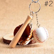 Mini baseball keychain baseball and bat key ring baseball glove key chain Coffee