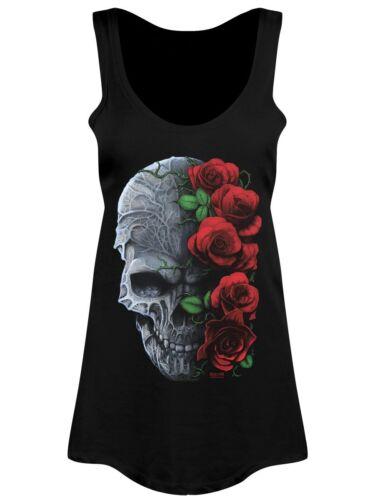 Requiem Collective Immortal Bloom Women/'s Black Floaty Vest
