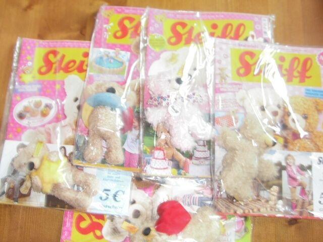 5 STEIFF Teddys mit Magazin - Alle orginal Hersteller verpackt - Top Angebot