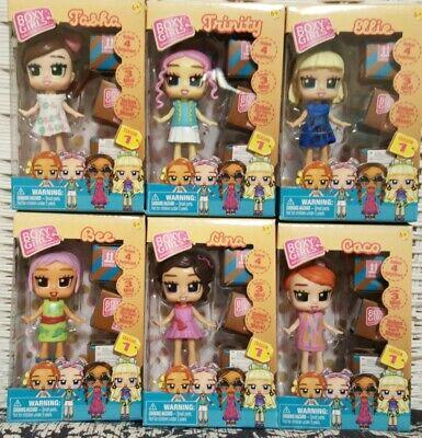 Boxy Girls MINI FASHION Dolls Full Set Of 6 Bee Coco Ellie Lina Tasha Triniti