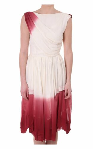 Sleeveless Womens Women's Dress Cream Gathered Trevor Bolangaro Contrast q1wICH