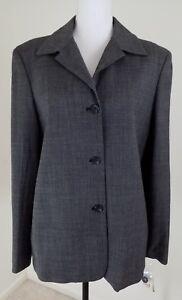RAFAELLA-Women-039-s-Size-14-Black-Wool-Blend-Office-Wear-Blazer-Jacket-NWT-98-00