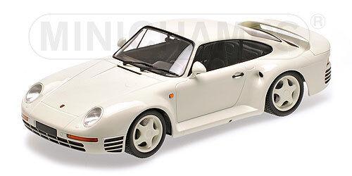 Porsche 959 White 1987 MINICHANPS 1:18 155066202 Model